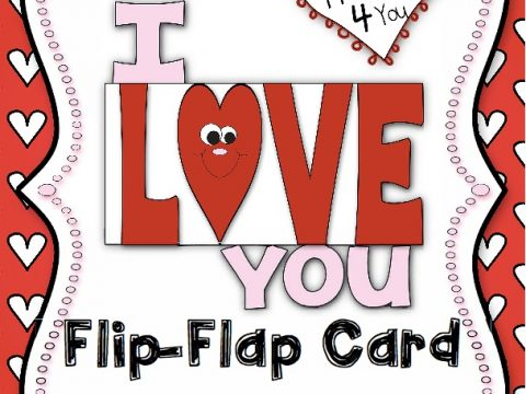 I Love You Flip Flap Card