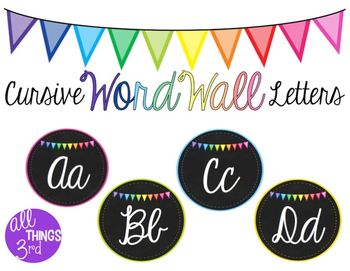 Word Wall of Fame Cursive