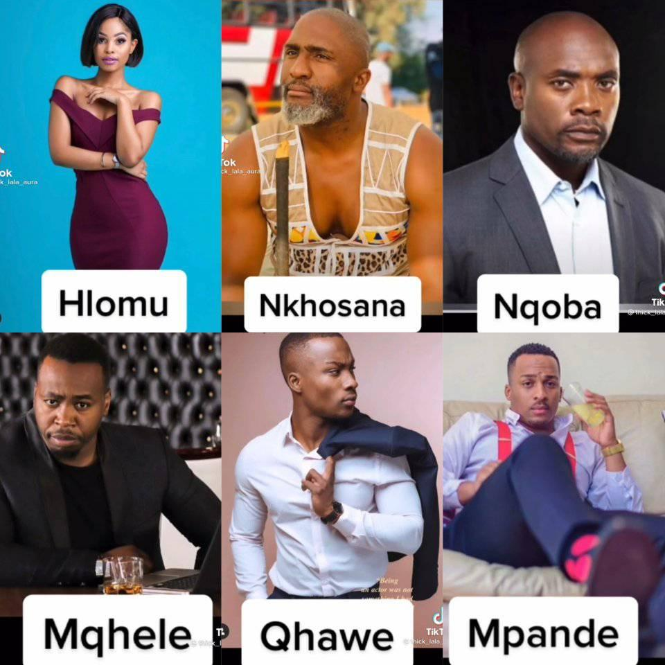 Ngizwa bethi these are the main characters on the hlomu the wife series