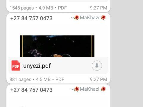 Whatsapp PDF Novel